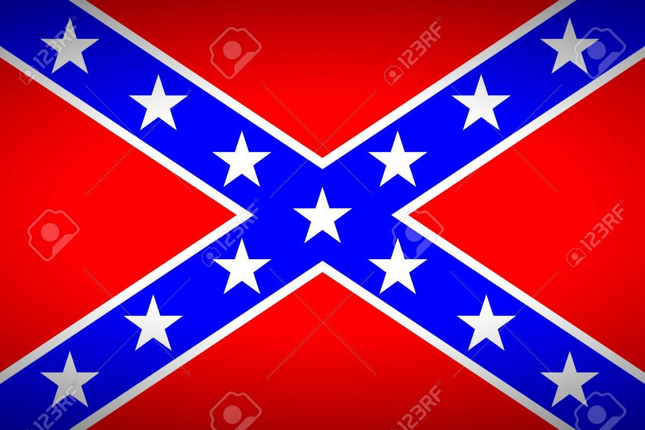 ベクトル イラスト - アメリカ連合国の国旗。非常に鮮やかな色。の ...