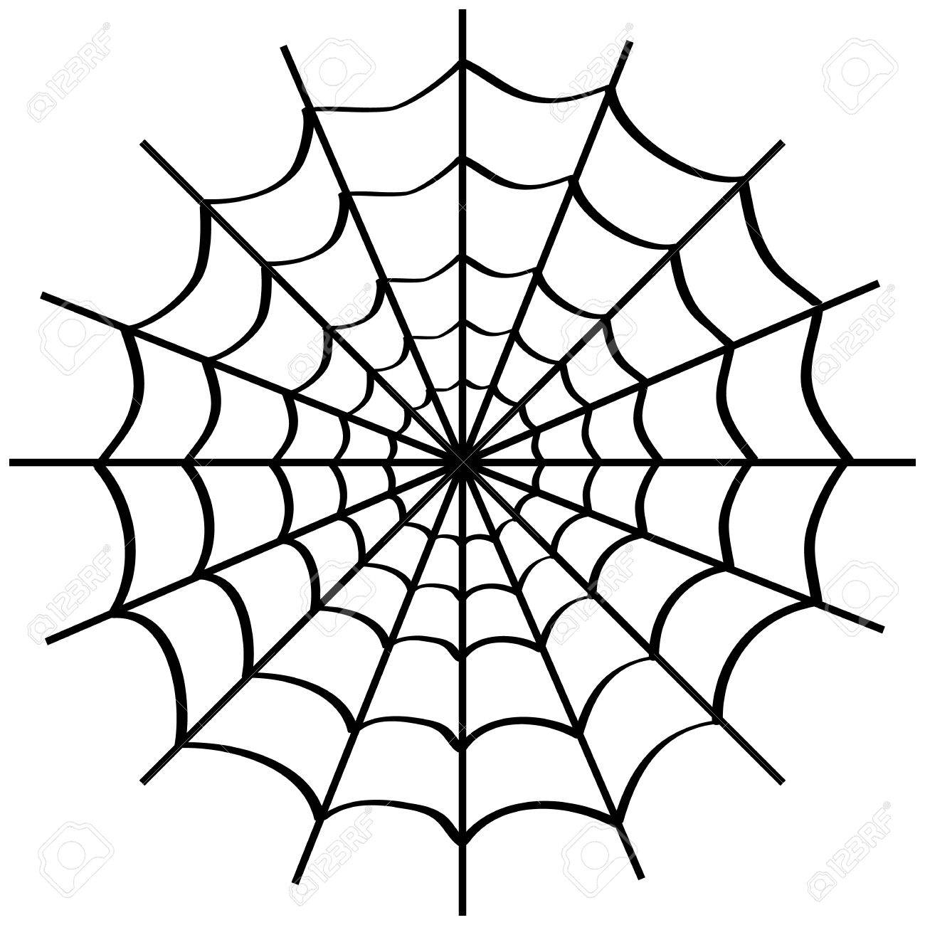 spider web on white background royalty free cliparts vectors and rh 123rf com vector spider web corner spider web vector png
