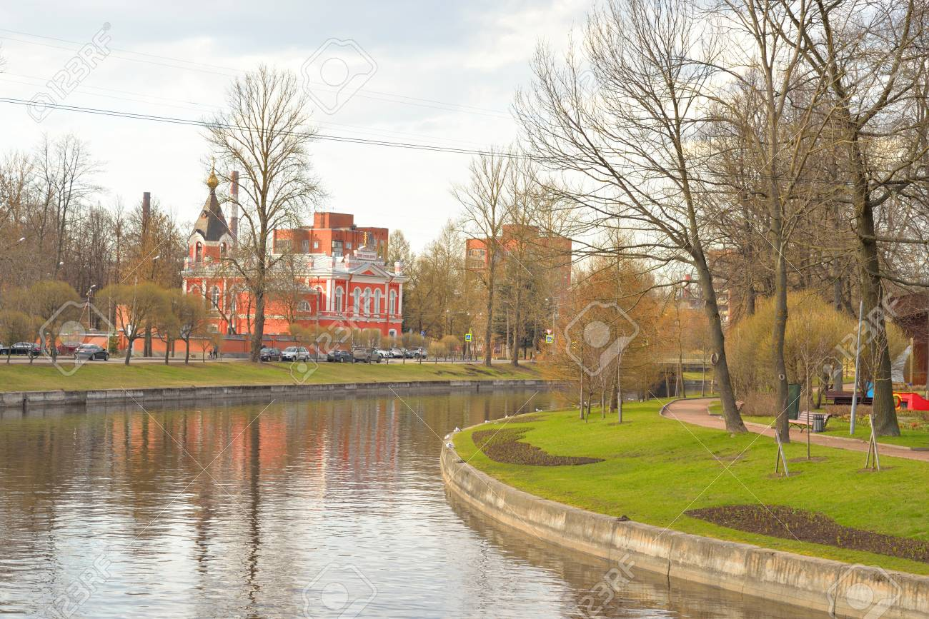 View Izhora River, Church Of The Ascension And City Garden In ...