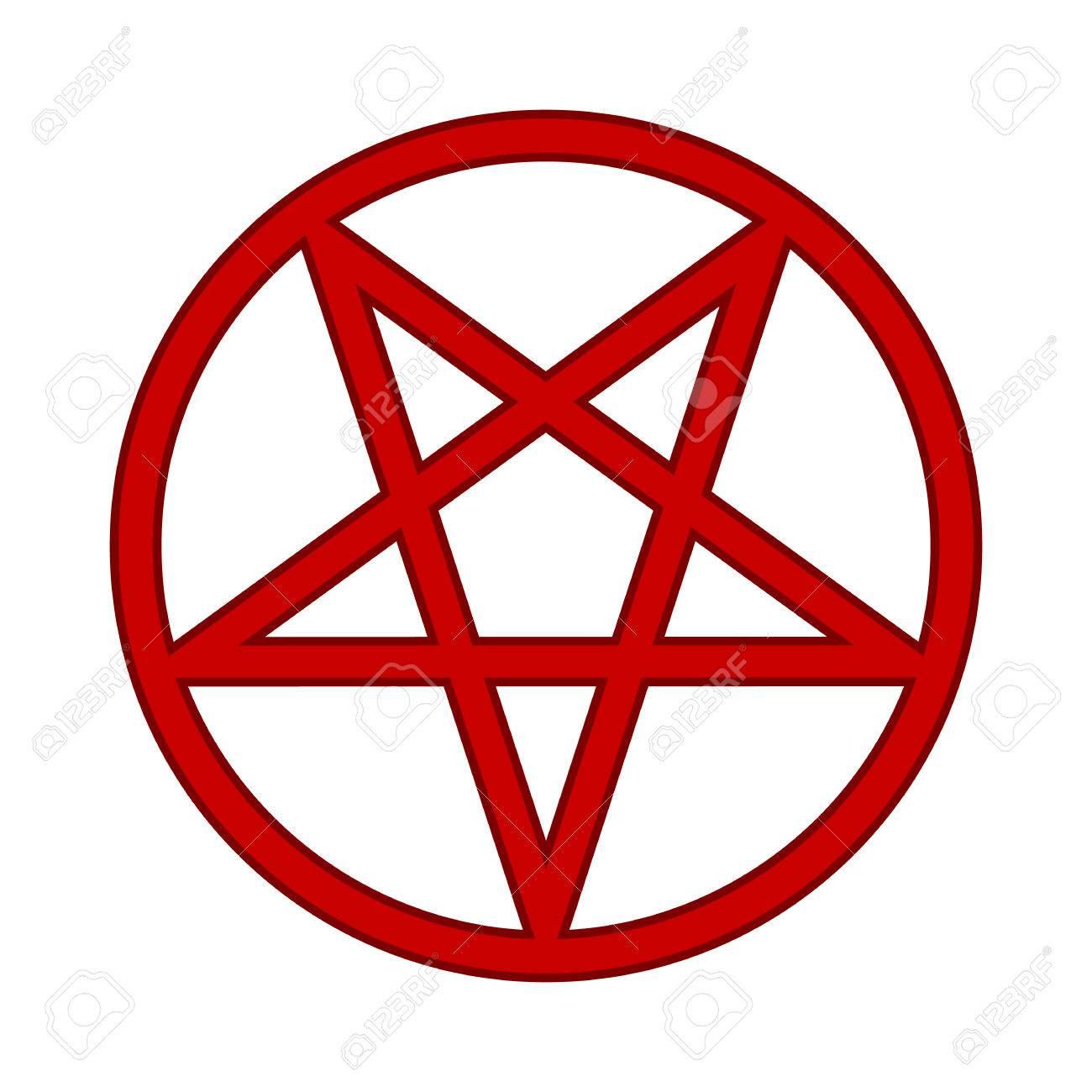 Pentagram Symbol Icon On White Background Vector Illustration