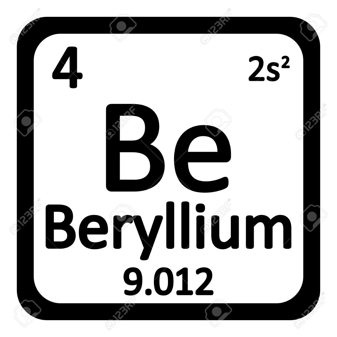 Rhodium periodic table gallery periodic table images periodic table element beryllium icon on white background vector periodic table element beryllium icon on white gamestrikefo Image collections