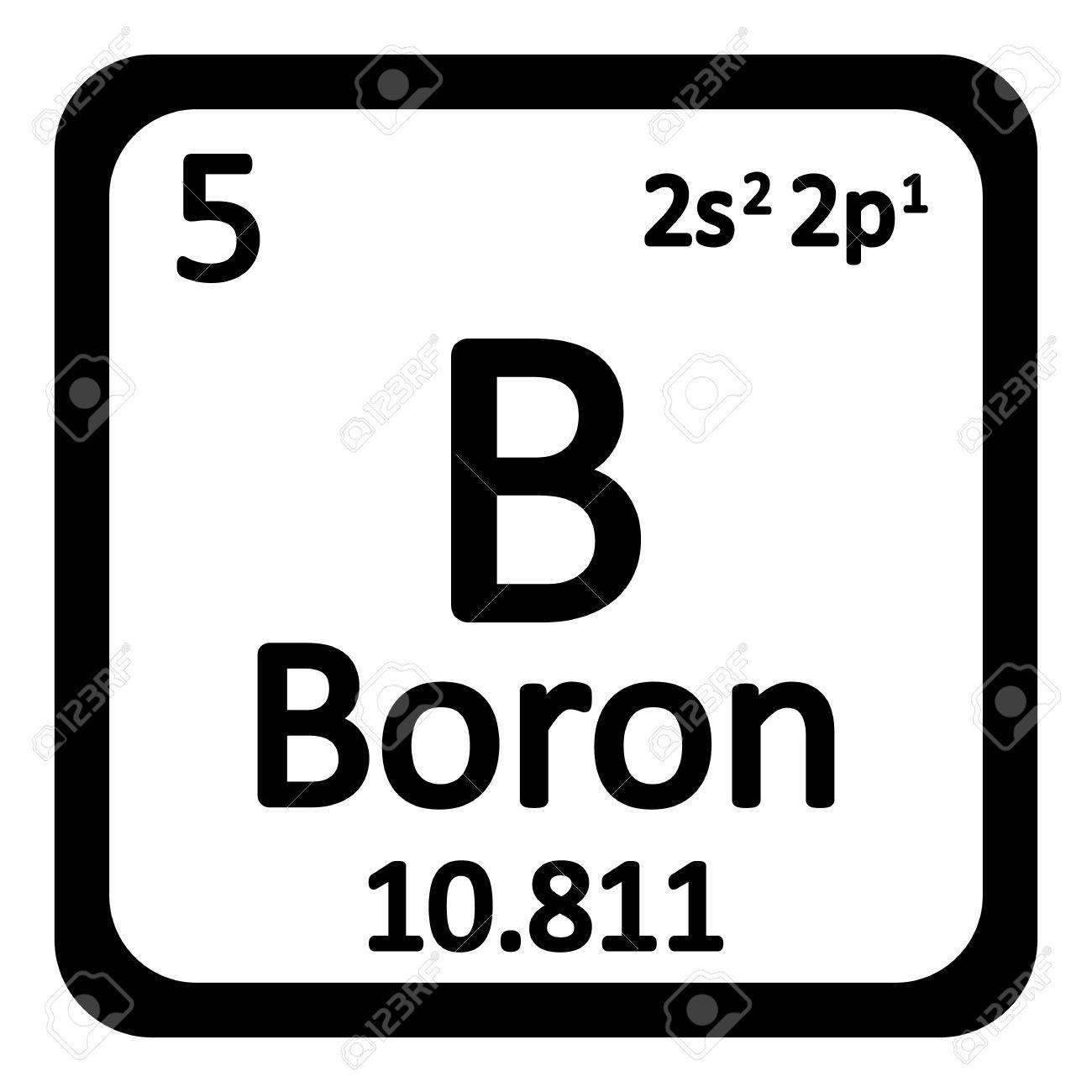 Elemento de la tabla peridica icono de boro en el fondo blanco elemento de la tabla peridica icono de boro en el fondo blanco ilustracin del vector urtaz Gallery