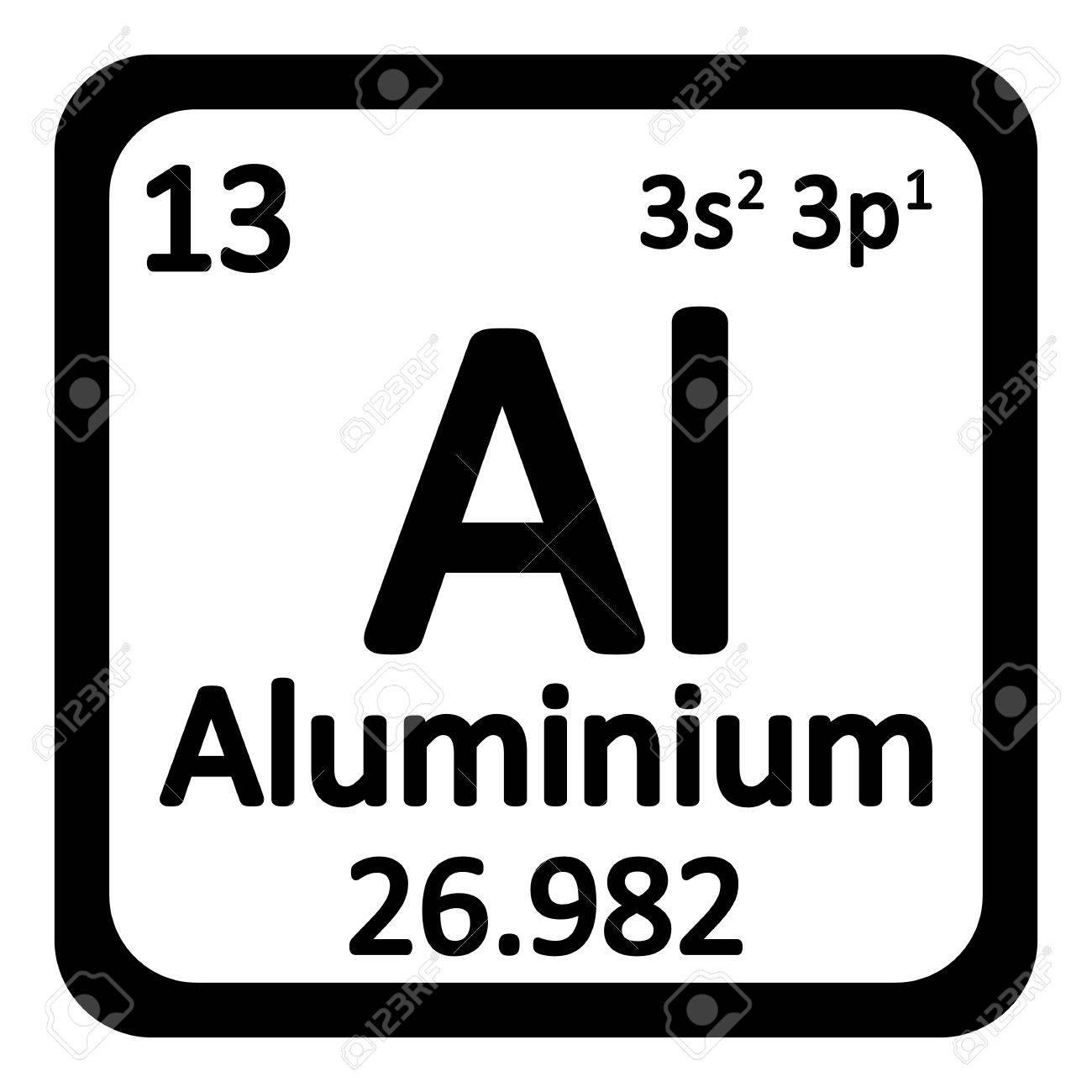 Elemento de la tabla peridica icono de aluminio en el fondo blanco elemento de la tabla peridica icono de aluminio en el fondo blanco ilustracin del vector urtaz Images