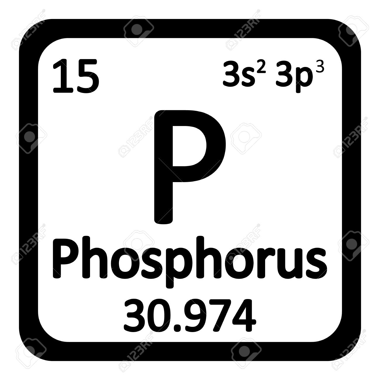 Periodic Table Element Phosphorus Icon On White Background. Vector  Illustration. Stock Vector   63714957