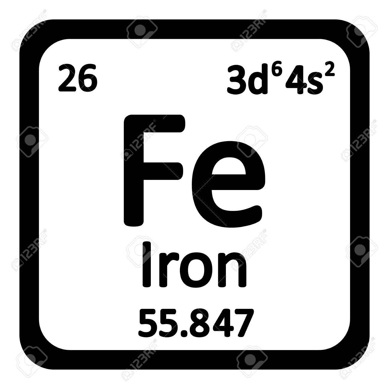 Periodic table element iron icon on white background vector periodic table element iron icon on white background vector illustration stock vector 63714973 urtaz Image collections