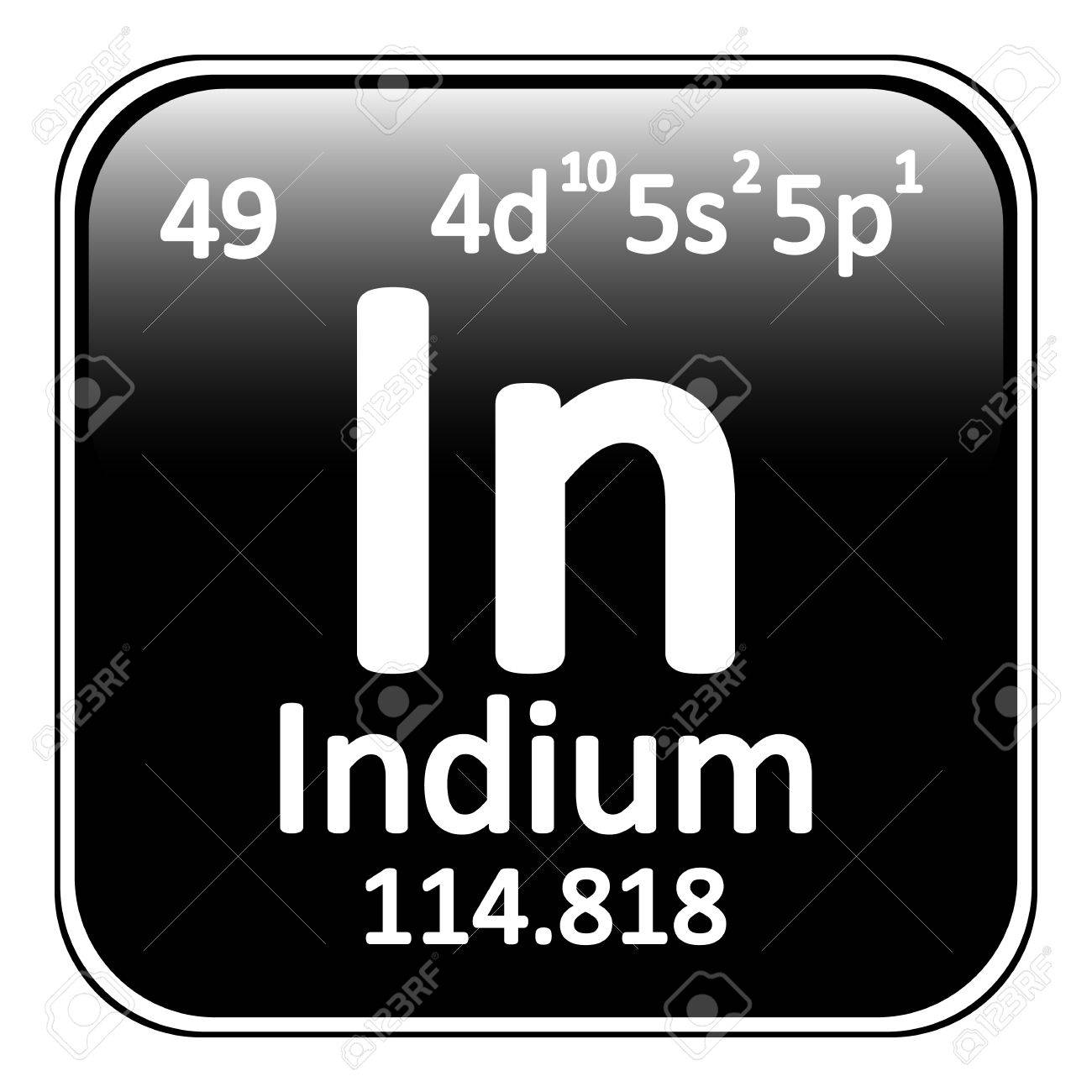 Periodic table element indium icon on white background vector periodic table element indium icon on white background vector illustration stock vector 64698330 biocorpaavc Images