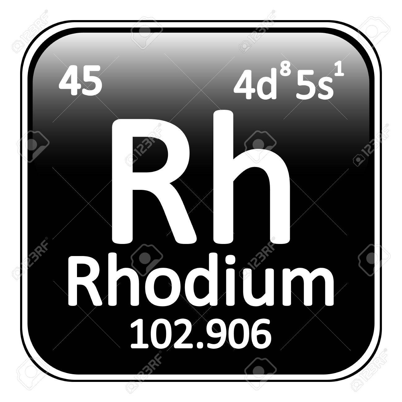 Rhodium on periodic table image collections periodic table images periodic table element rhodium icon on white background vector periodic table element rhodium icon on white gamestrikefo Image collections