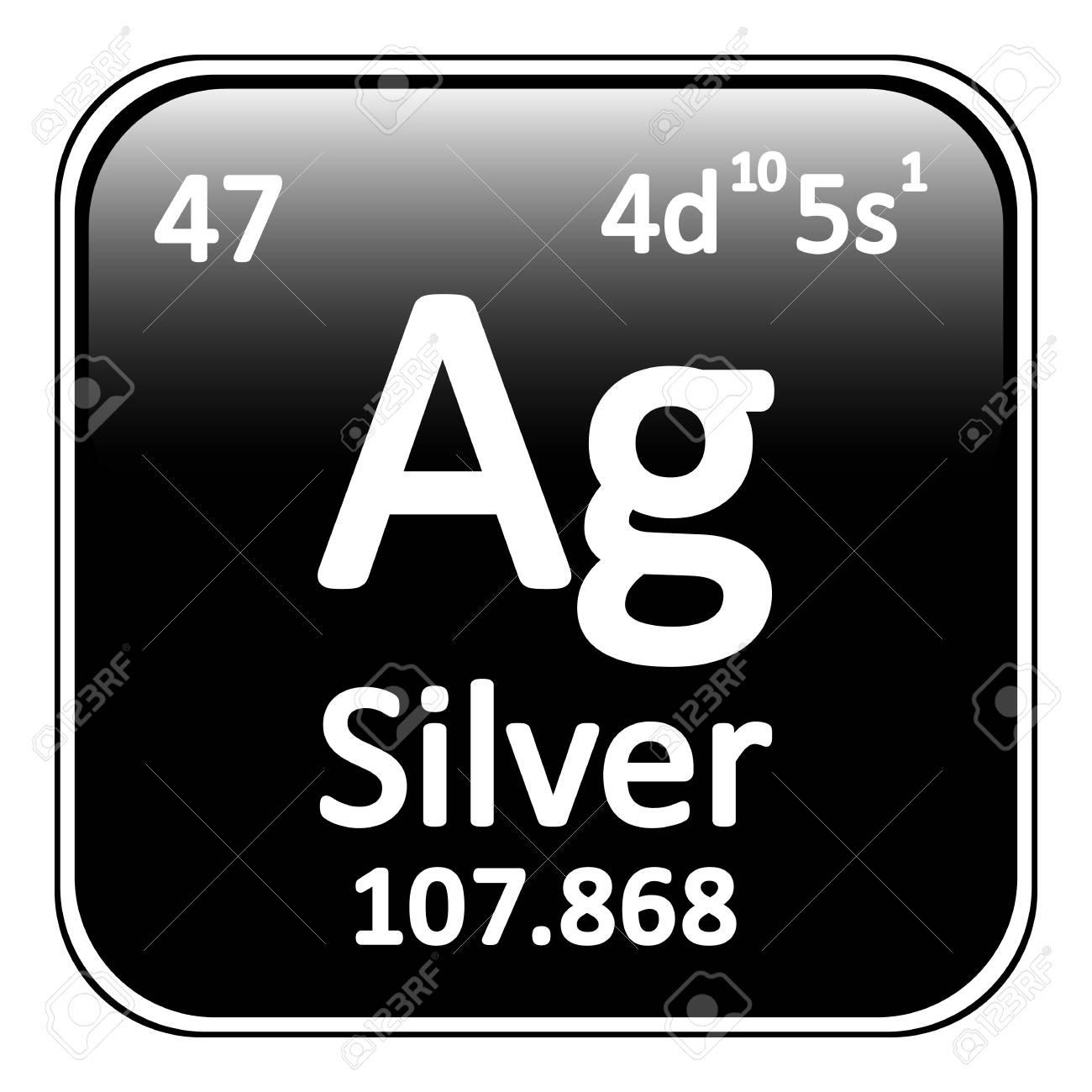 Periodic table element silver icon on white background vector periodic table element silver icon on white background vector illustration stock vector 64698339 urtaz Images