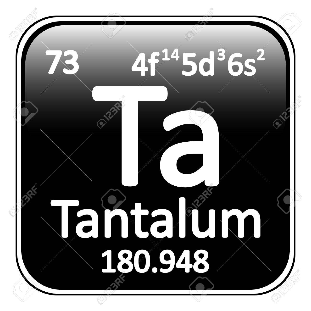 Periodic Table Element Tantalum Icon On White Background. Vector  Illustration. Stock Vector   64698426