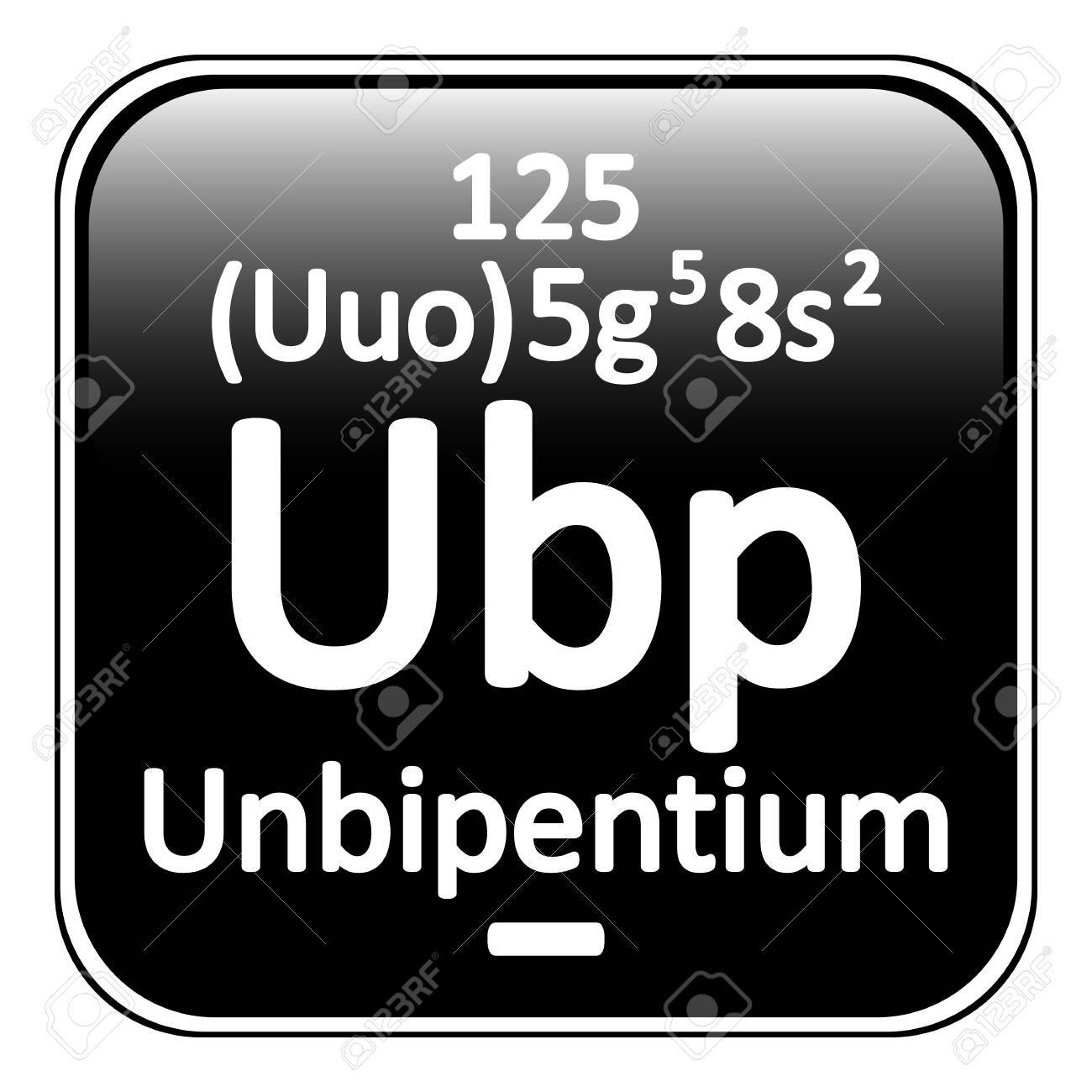 Elemento de la tabla peridica icono unbipentio sobre fondo blanco elemento de la tabla peridica icono unbipentio sobre fondo blanco ilustracin del vector foto urtaz Images