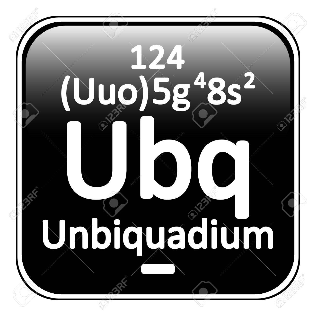 Periodic Table Element Unbinilium Icon On White Background. Vector  Illustration. Stock Vector   64698501