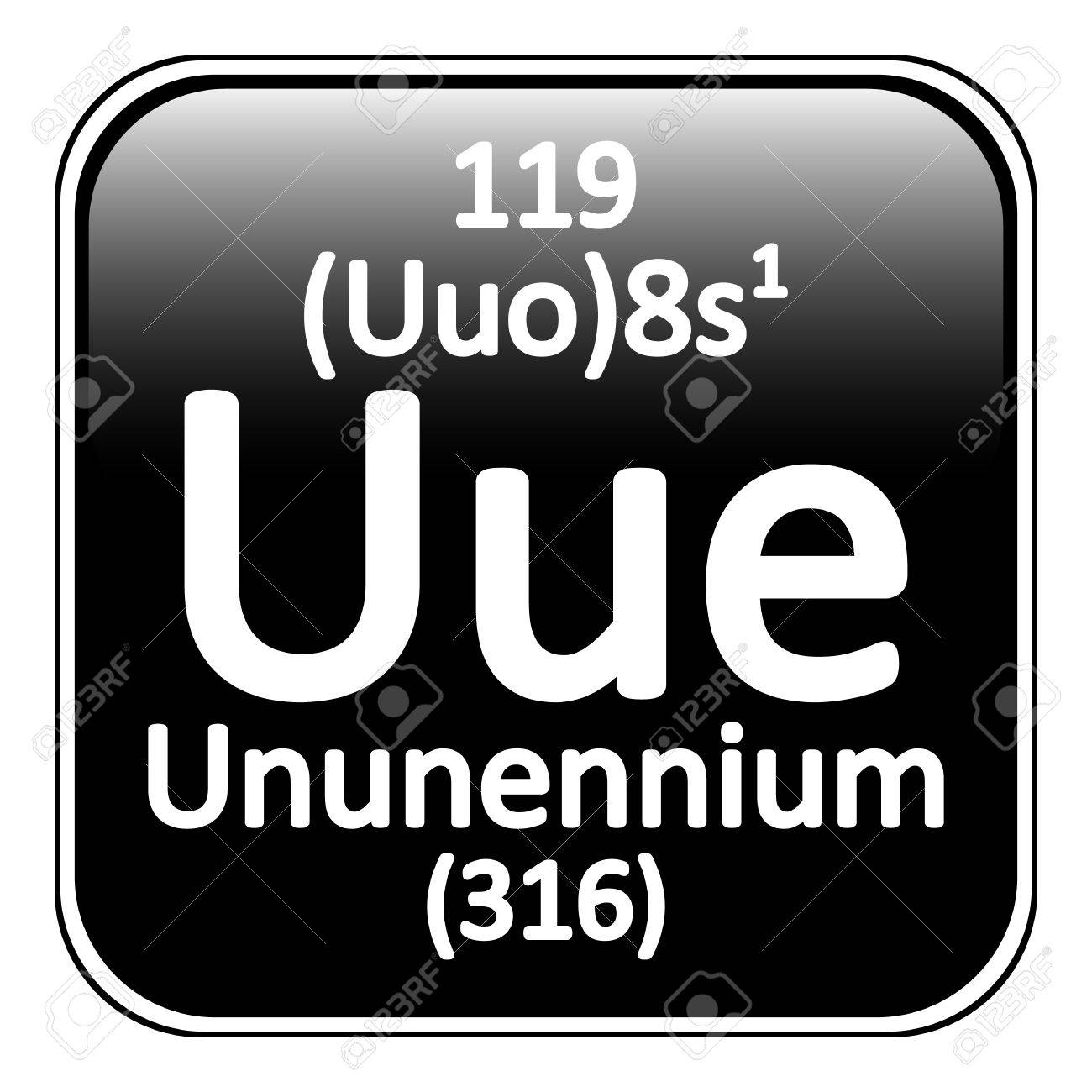 Periodic Table Element Ununennium Icon On White Background. Vector  Illustration. Stock Vector   64698505