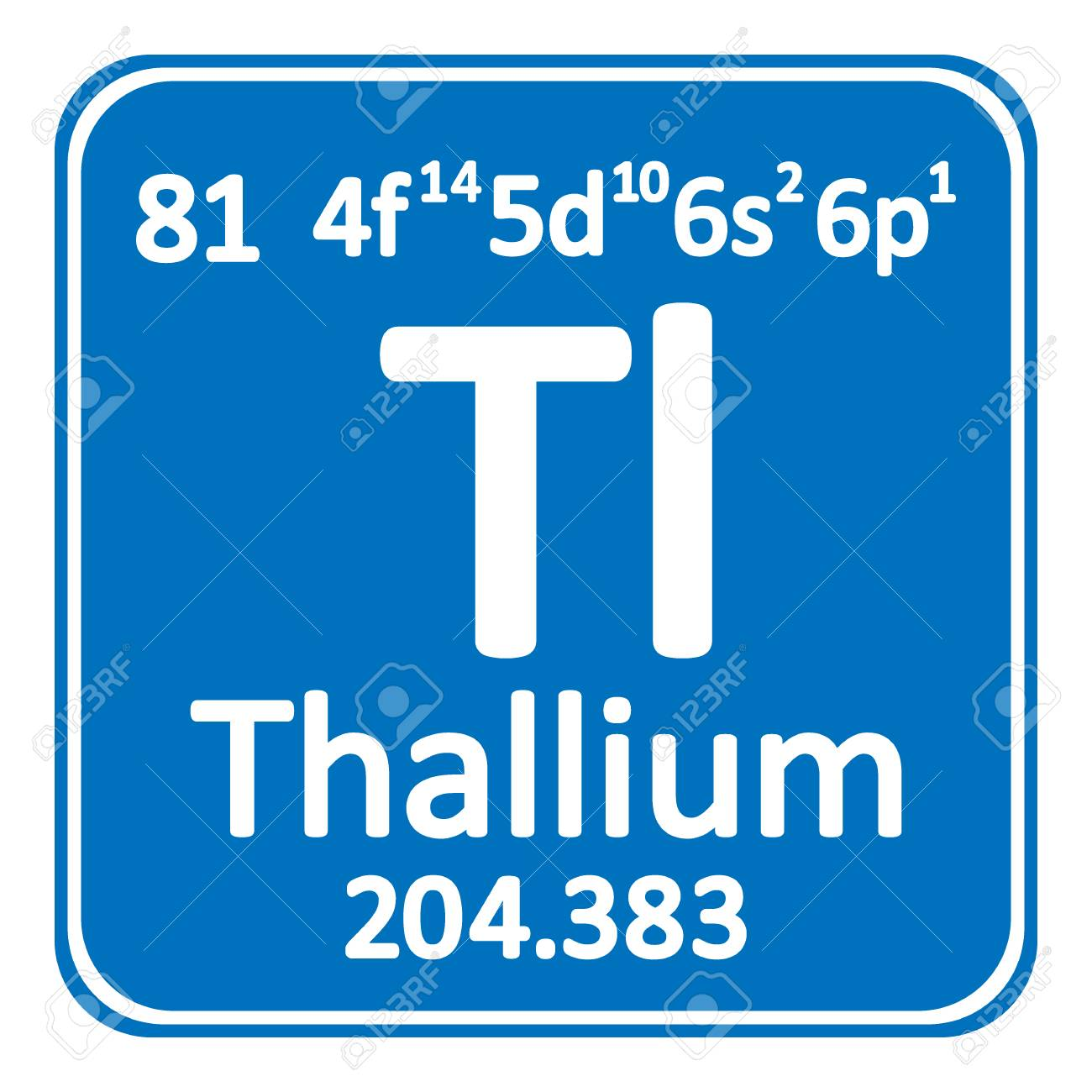 Periodic Table Element Thallium Icon On White Background. Vector  Illustration. Stock Vector   98721798