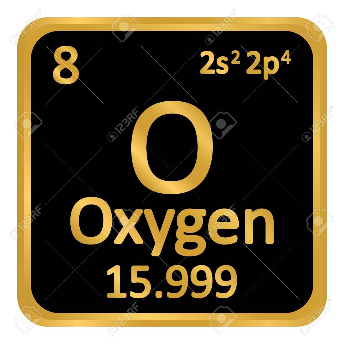 Periodic table element oxygen icon on white background vector periodic table element oxygen icon on white background vector illustration stock vector 98851615 urtaz Image collections
