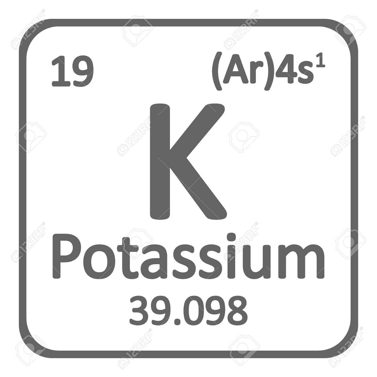 Periodic table element potassium icon on white background vector periodic table element potassium icon on white background vector illustration stock vector 104391247 urtaz Images