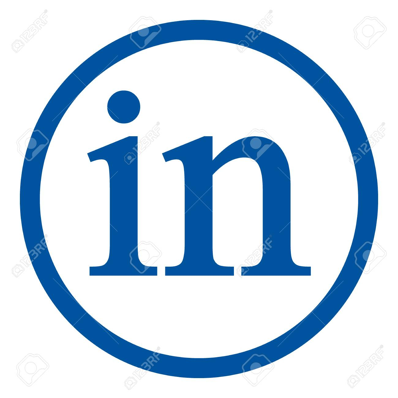 Linkedin Icon On White Background Social Media Symbol Vector