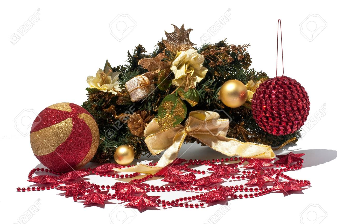 New year decoration isolated on white Stock Photo - 13721439