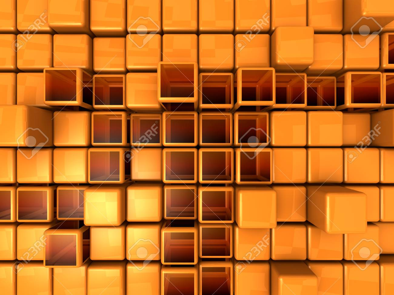 Abstract Background - Cubes Stock Photo - 1412761