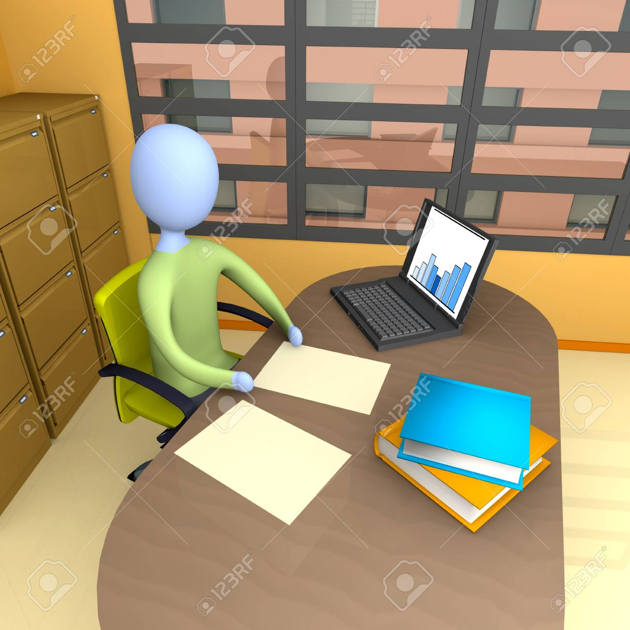 Office Moment Stock Photo - 2486502