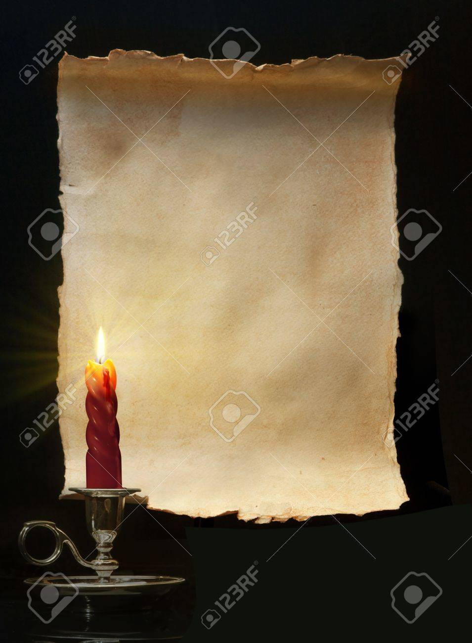 Vintage roll lit a candle Stock Photo - 10492839