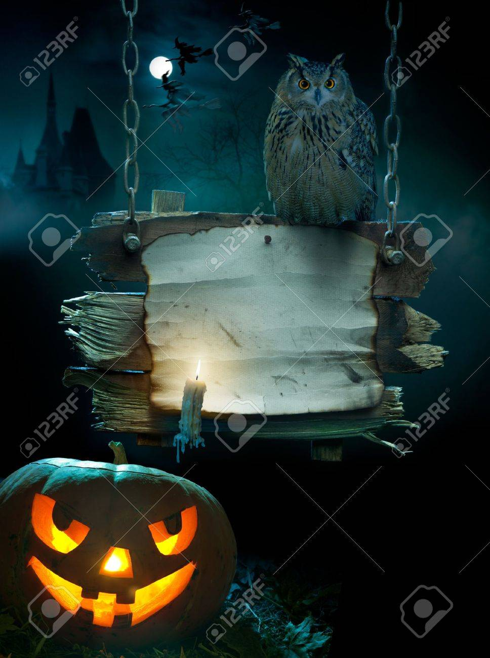 Design Background For A Party On The Night Of Halloween Stock ...