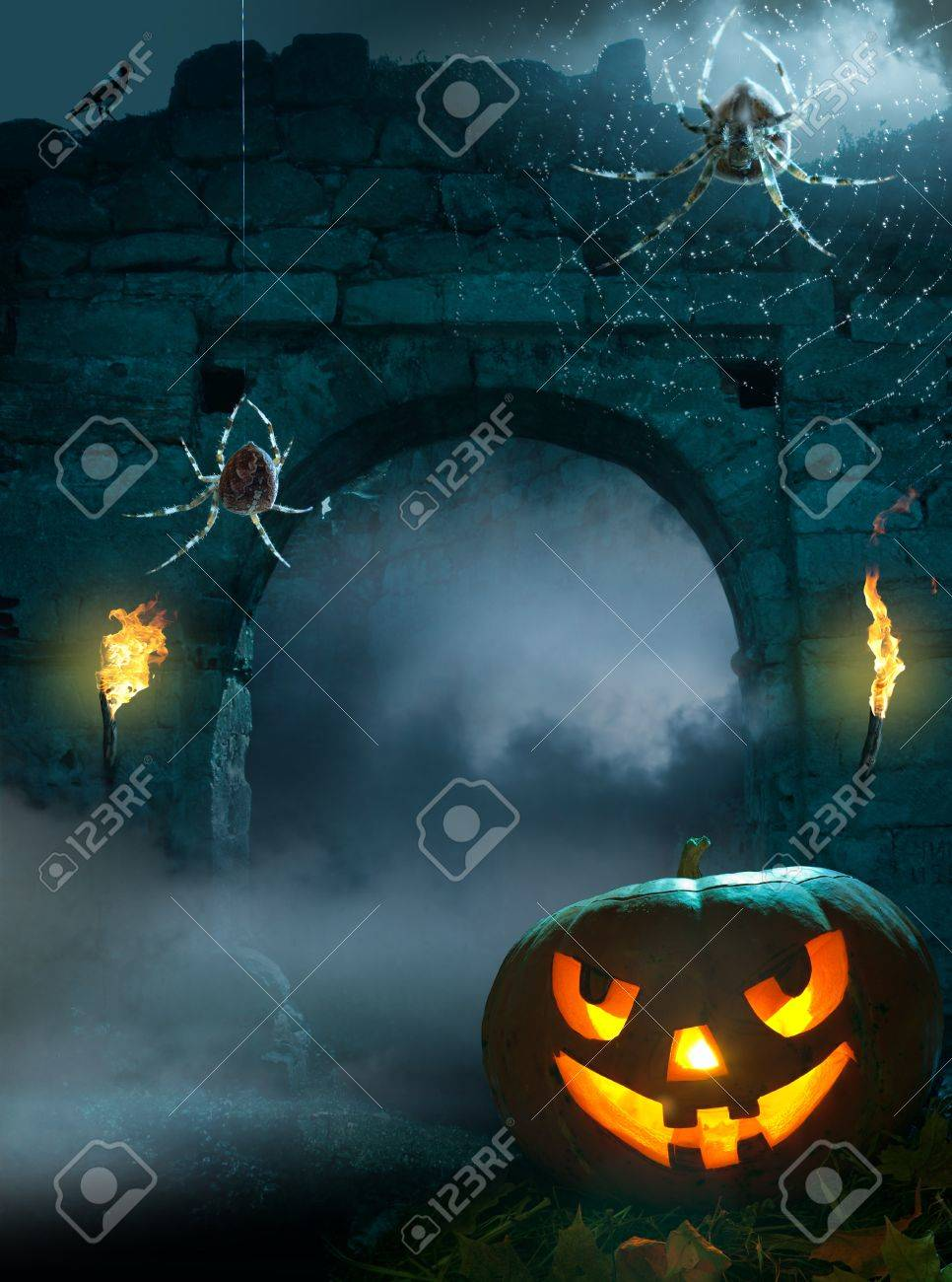 design background for a party on the night of Halloween Stock Photo - 10826548