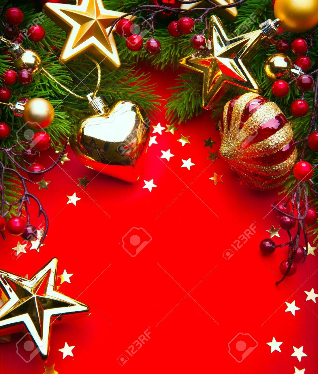 Design A Christmas Greeting Card With Christmas Decorations On