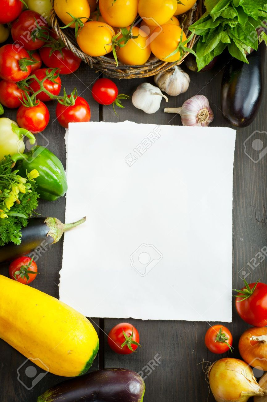 Organic Food Background Farmers Vegetable Market