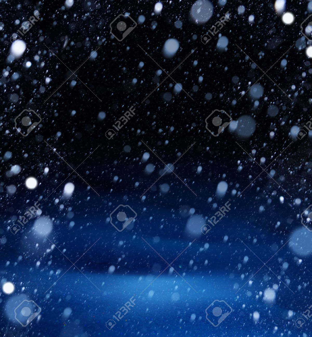 snow christmas magic lights background Stock Photo - 15975407