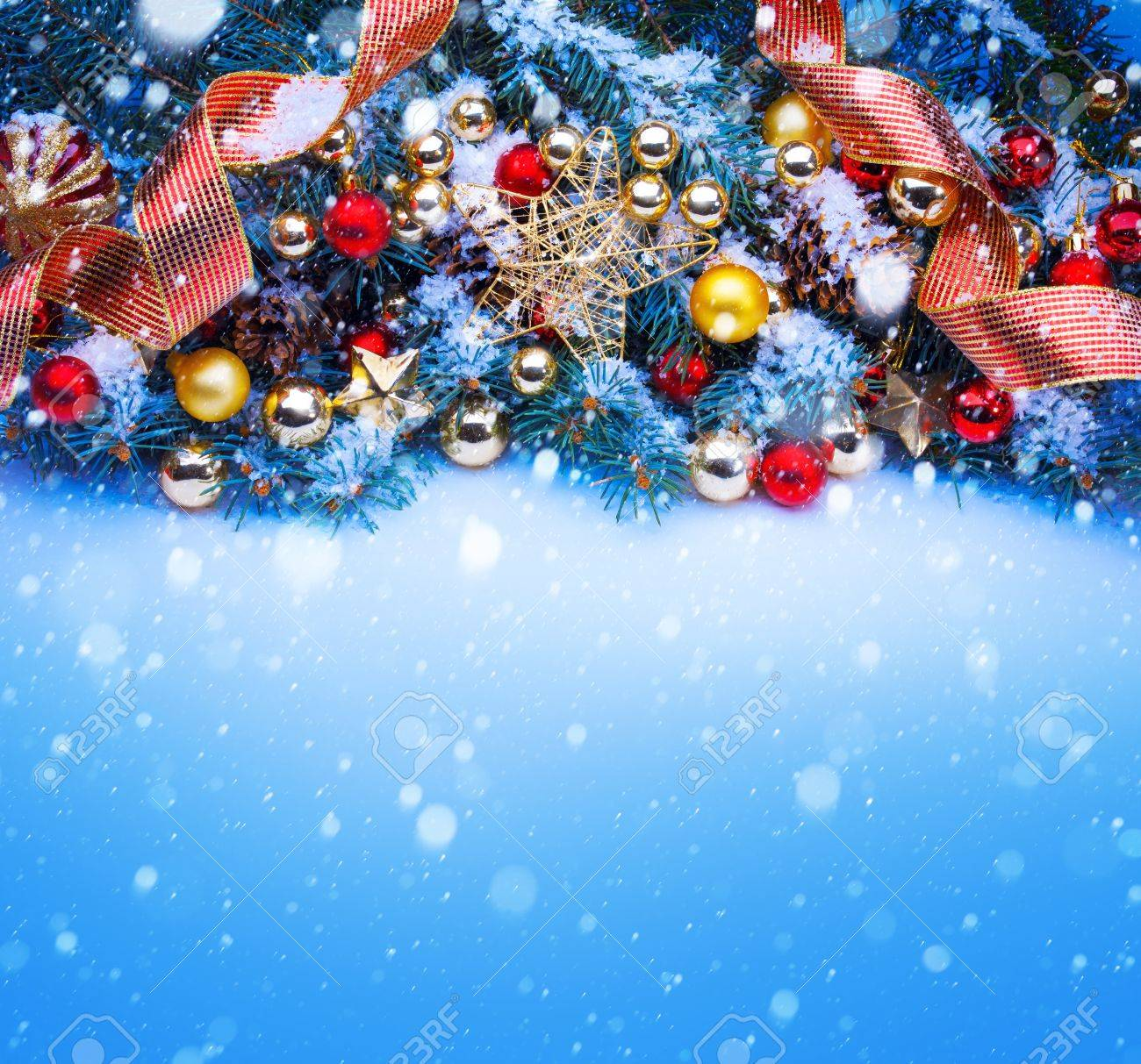 Christmas Greetings Background.Design A Blue Christmas Greeting Card Background