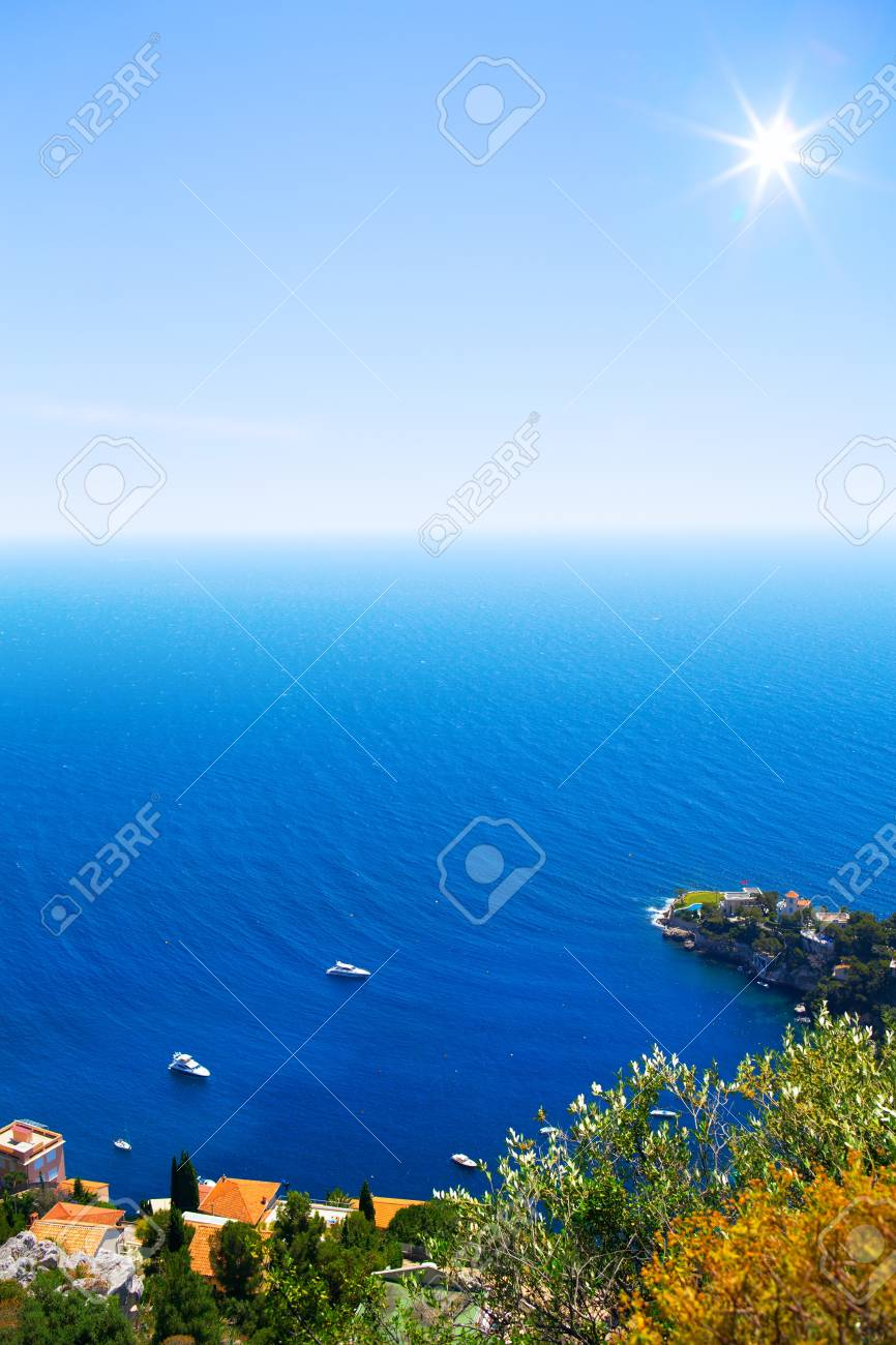 Art Beautiful sea Cote d'Azur in the day Stock Photo - 21861969
