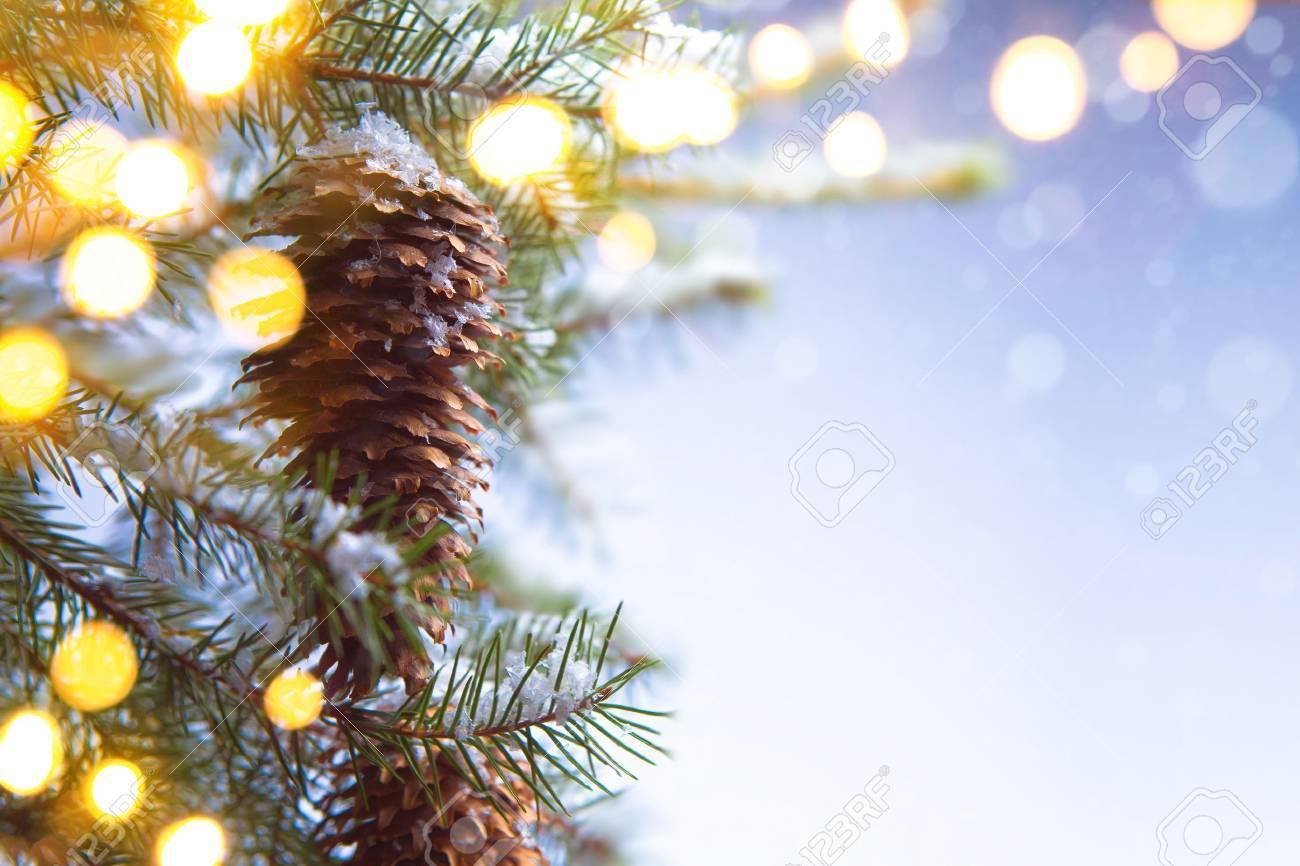 Christmas tree on christmas light Stock Photo - 41129379