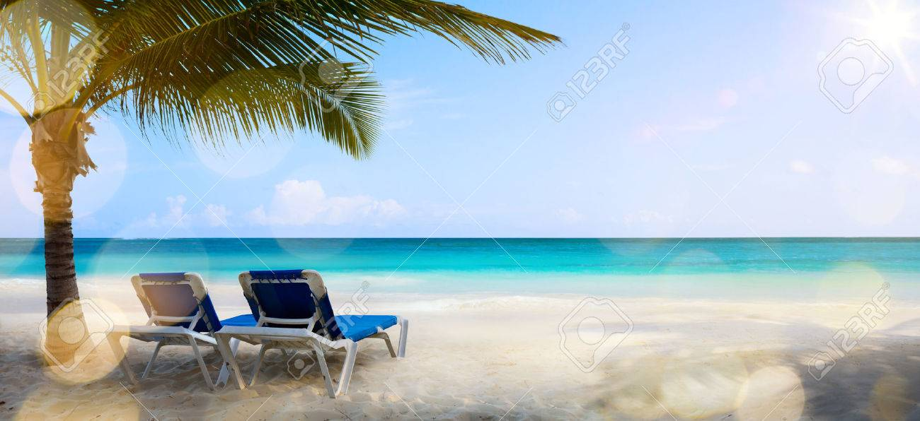 art vacation on the sea, background Stock Photo - 40915221