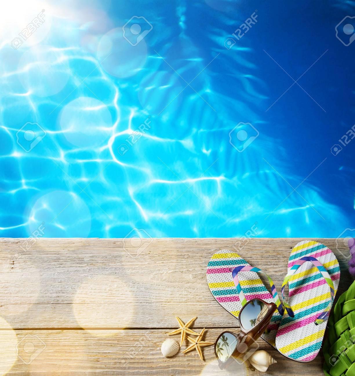 ar beach summer;  beach accessories Stock Photo - 40915232