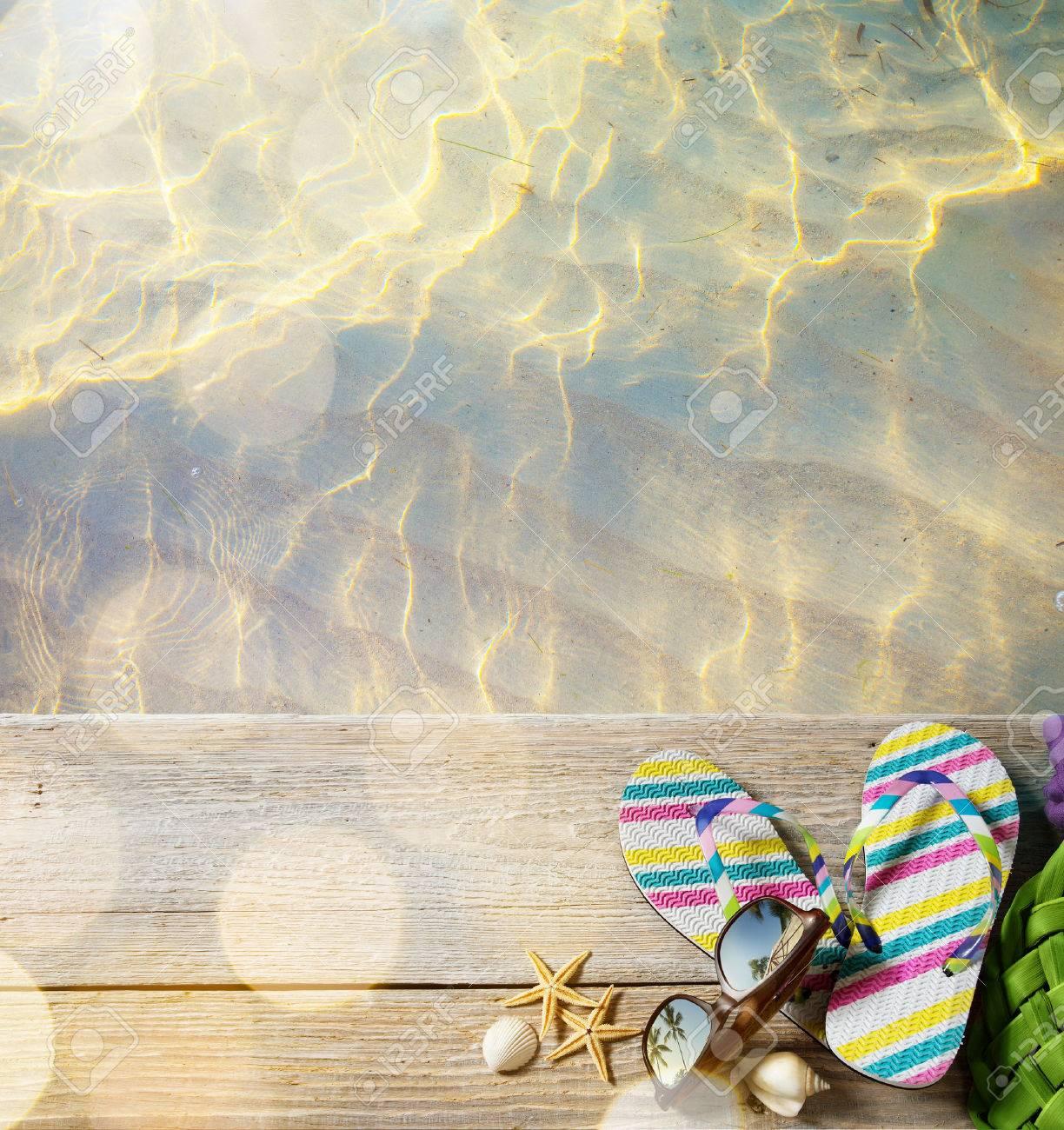 ar beach summer;  beach accessories Stock Photo - 40913477