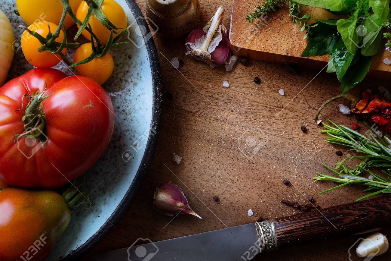 art food and cooking background Stock Photo - 44169626