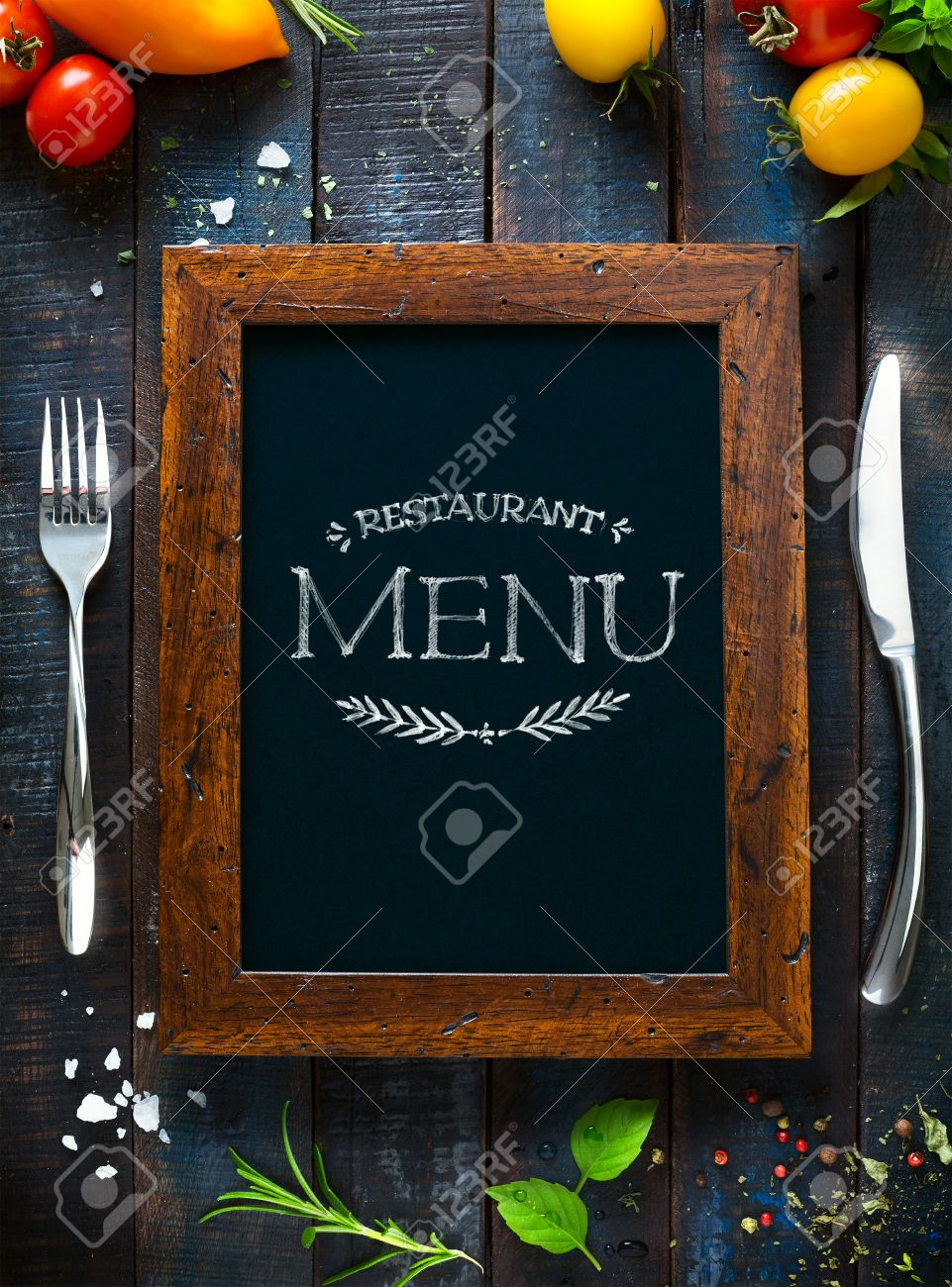 restaurant cafe menu, template design. food flyer stock photo