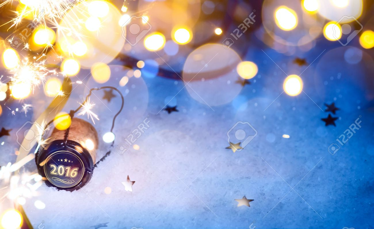 art Christmas and 2016 New year party background Stock Photo - 46016035