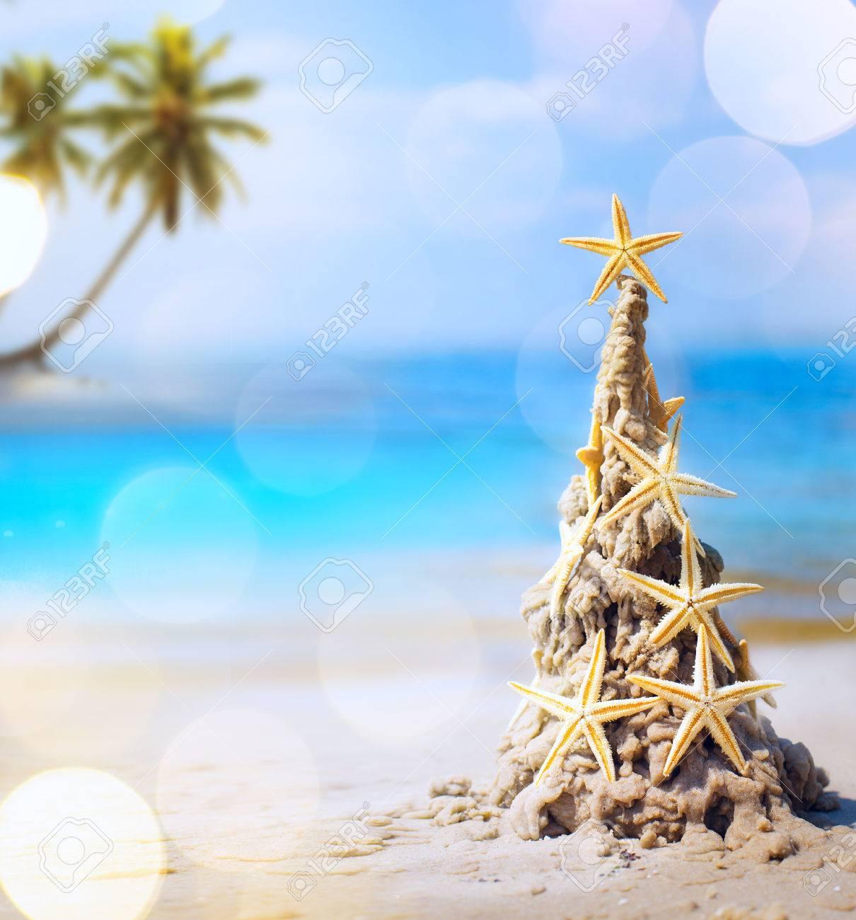 Tropical Christmas.Art Tropical Christmas Holiday