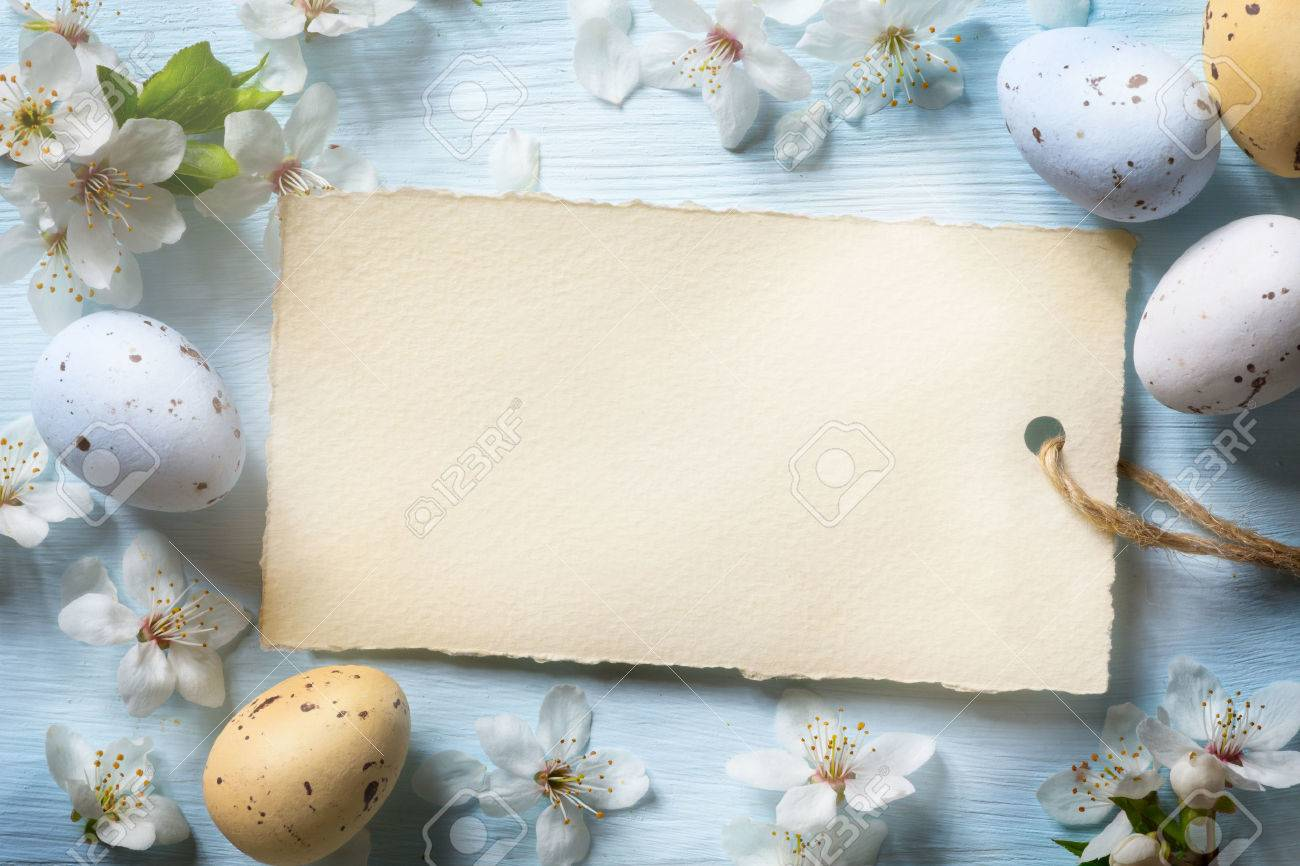 Colorful easter eggs. Background with easter eggs Stock Photo - 53597402