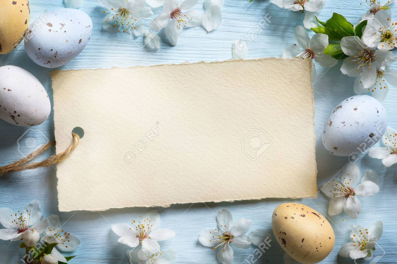 Colorful easter eggs. Background with easter eggs Stock Photo - 53597406