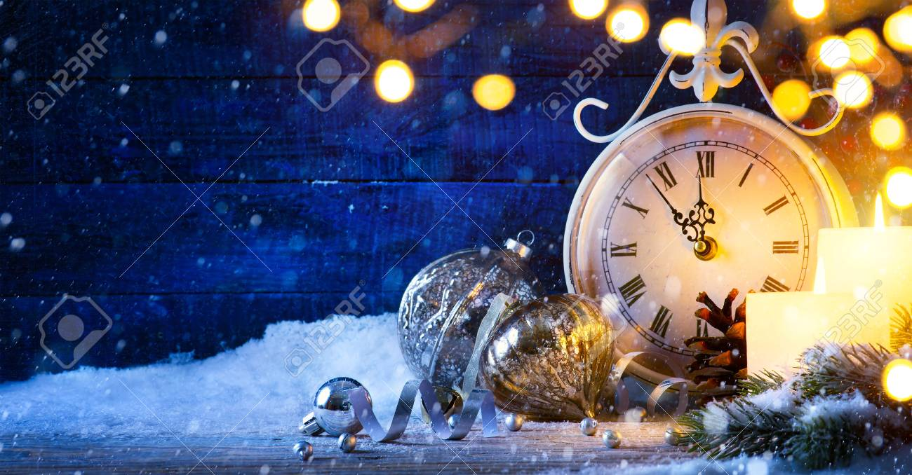 Christmas or New years eve; holiday background - 65341470