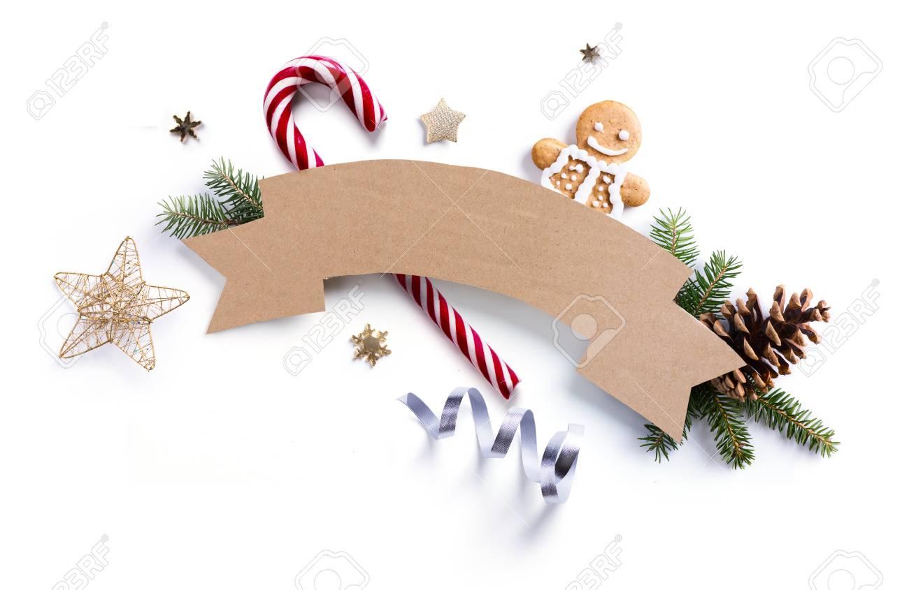 Weihnachtsferien Dekoration Element; Weihnachtstannenzweige Und ...
