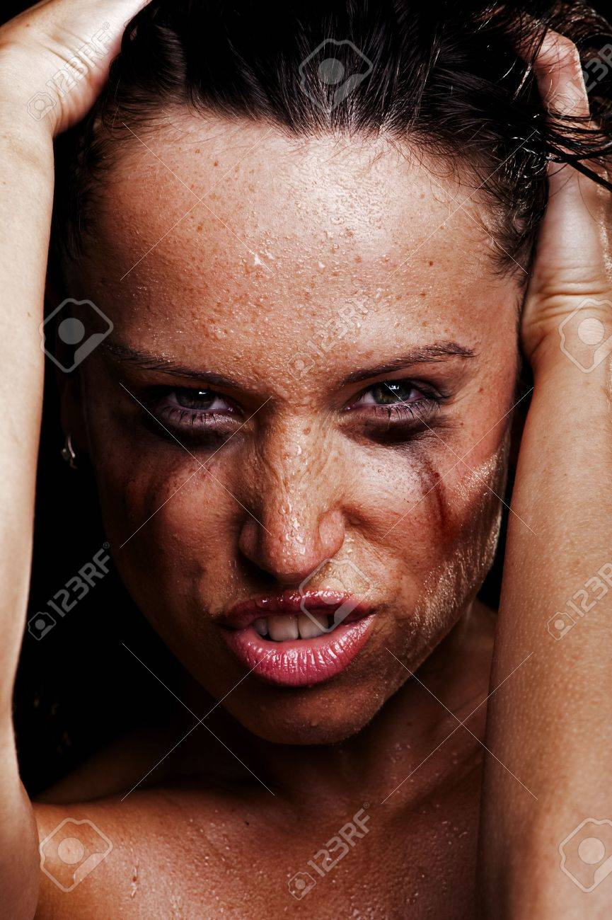 portrait of sexy angry girl Stock Photo - 5335779