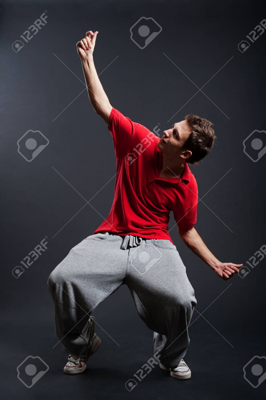 street dancer against dark background Stock Photo - 5530679