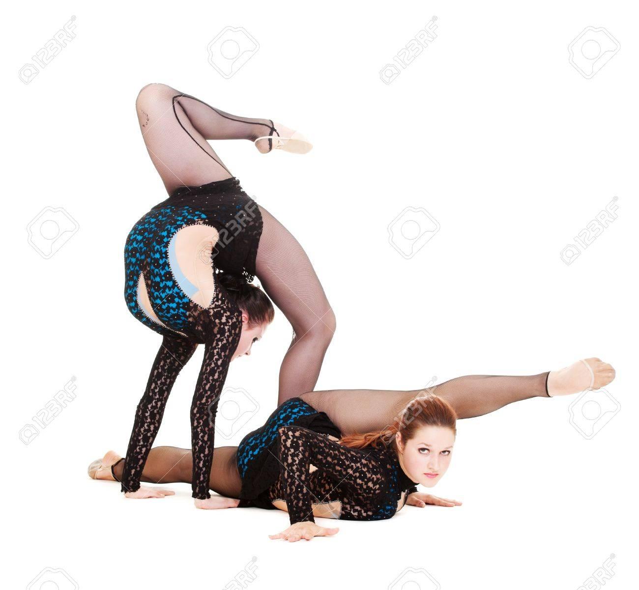 Фото две гимнастки 18 фотография
