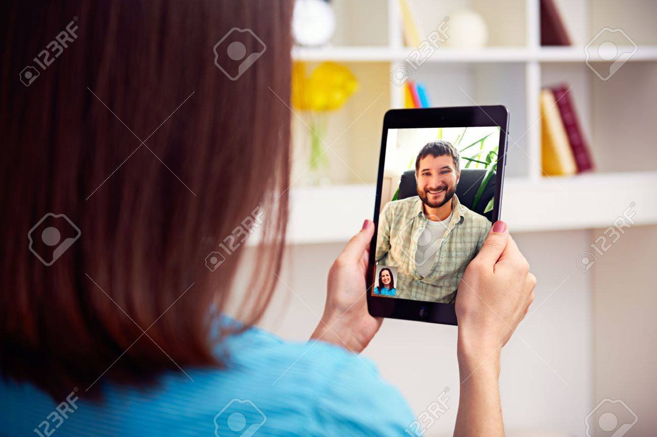 Video chat couple