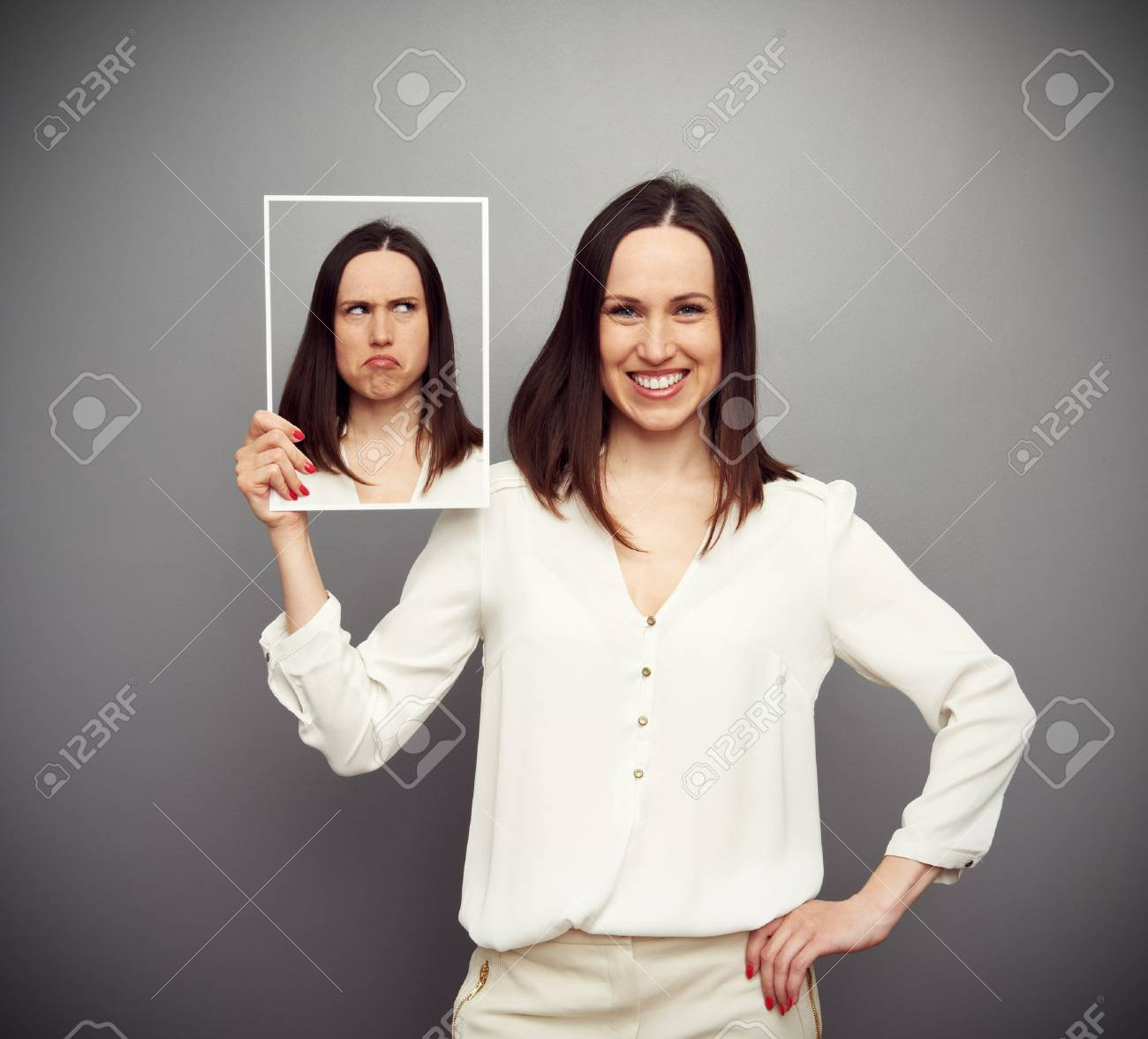young smiley woman thoughtful inside Stock Photo - 19062793