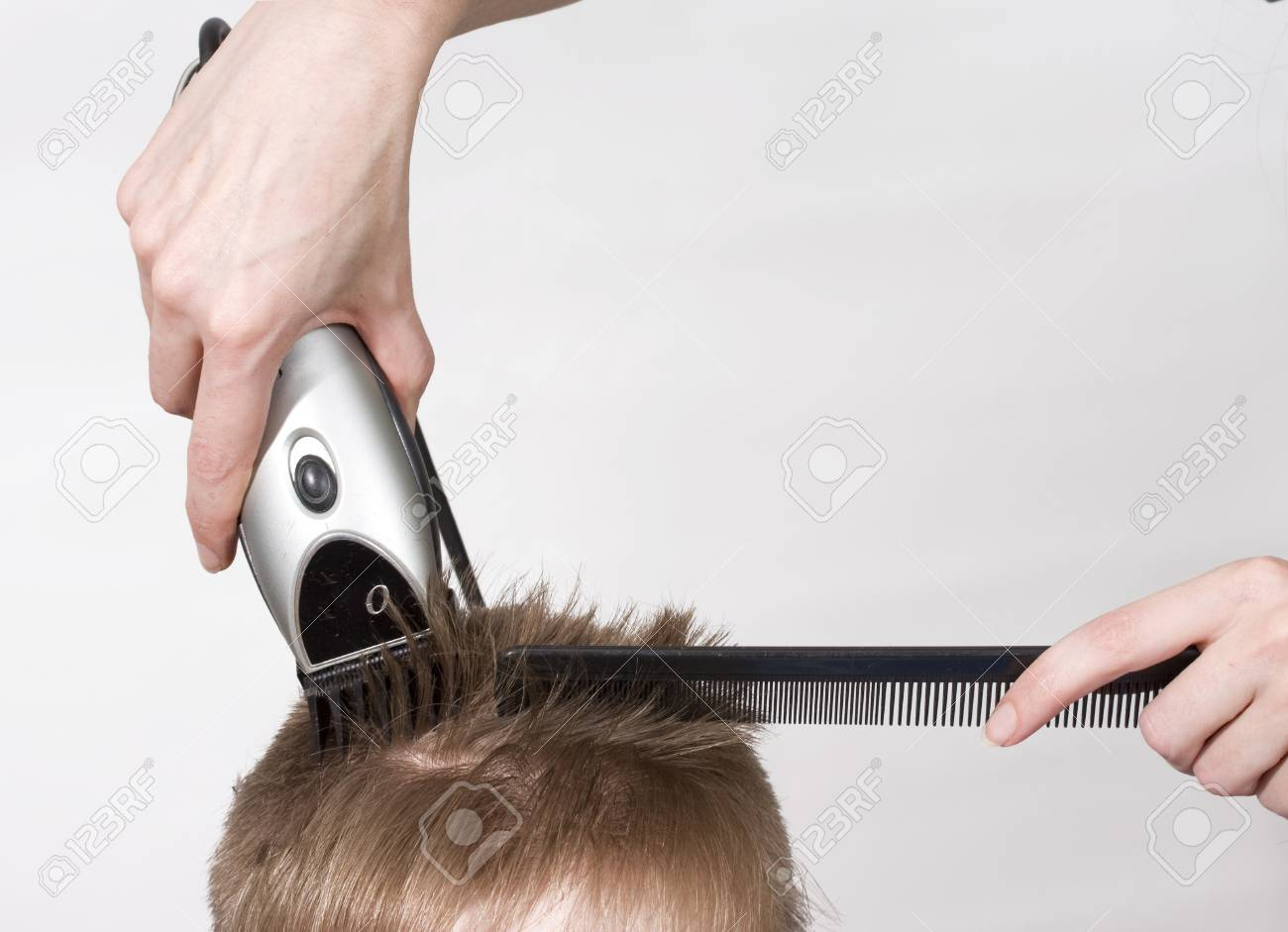 Hairstyle machine, kind in the rear Stock Photo - 4528018