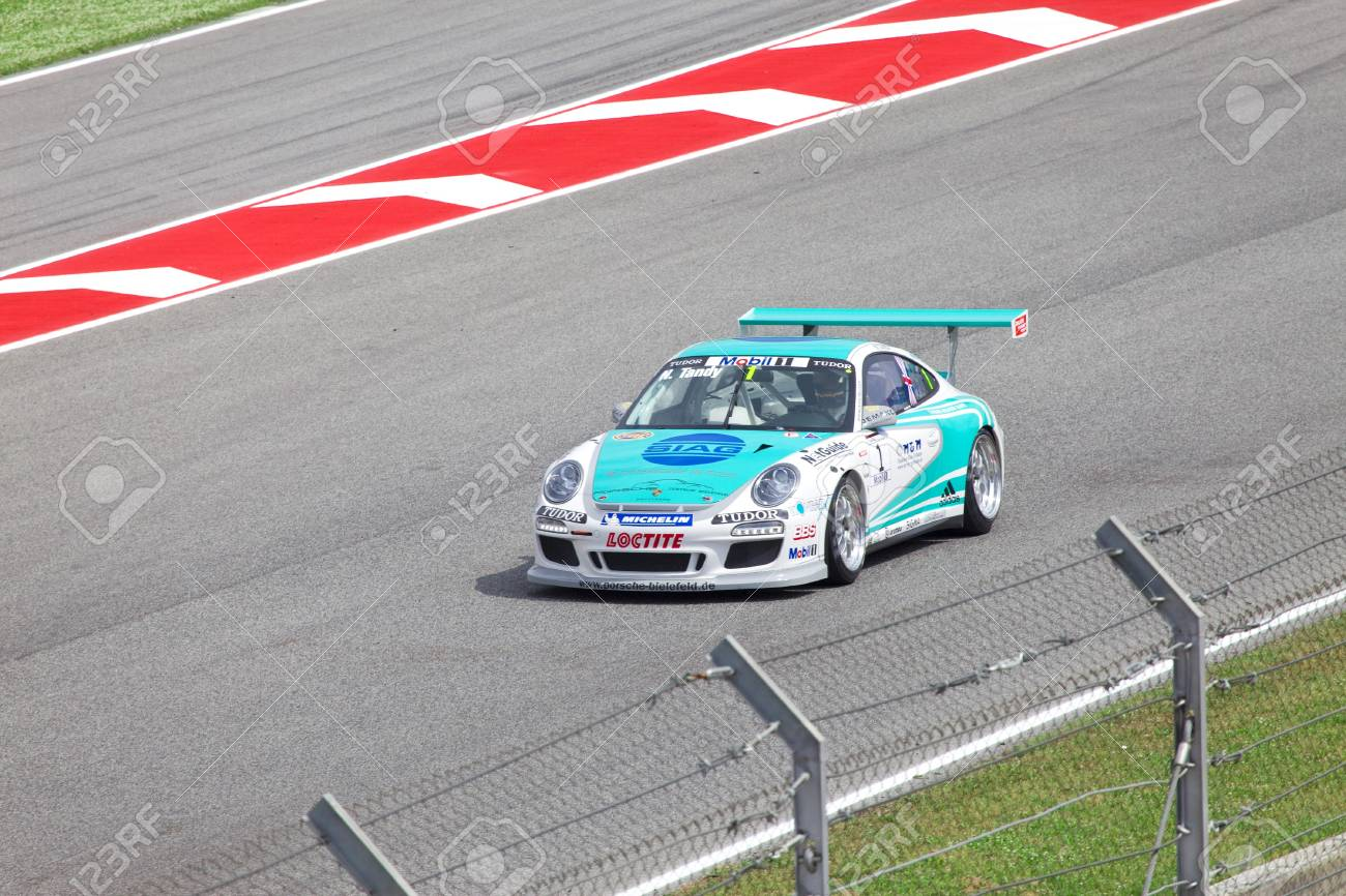Barcelona May 9 Nick Tandy Of Konrad Motorsport In Action During Stock Photo Picture And Royalty Free Image Image 7049504